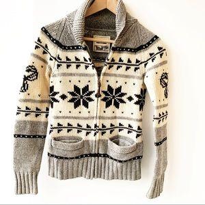 Aritzia Sea to Sky Lambswool Cardigan Sweater